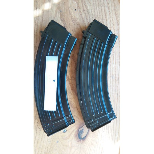 Pair of KCI AK-47 10/30 10Rd or 15/30 15Rd Black Steel 7.62x39mm Blocked Mags